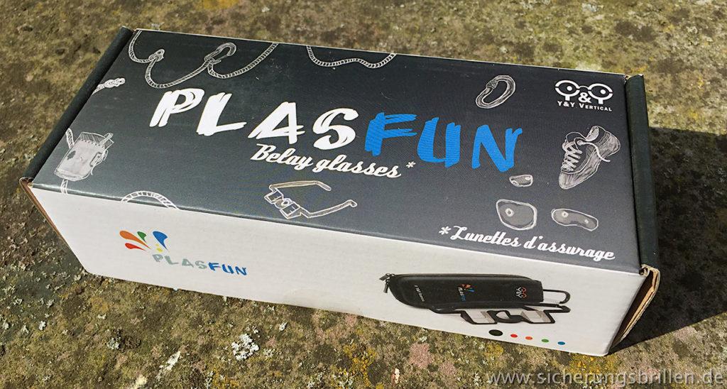Verpackung der Y&Y Plasfun Sicherungsbrille (Fotos: JK).