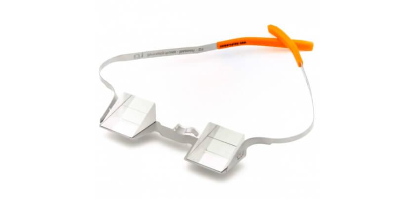 Die CU Sicherungsbrille von Power 'n Play eignet sich durch die geraden Brillenbügel und das dünne Gestell auch für Brillenträger (Foto: Bergfreunde.de).